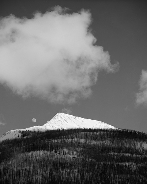 Moonrise over the Burn, Kootenay National Park