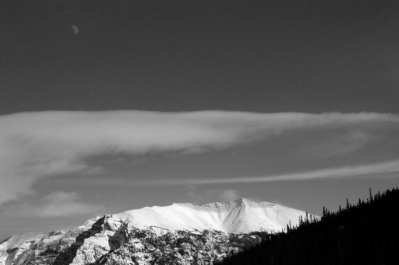Moon over Grotto Mountain