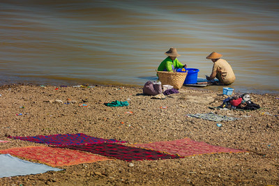 Washing in the Ayeyarwady river