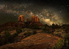 Milky Way Over Cathedral