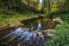 Long exposure of a small stream off Oak Creek, in Sedona, AZ