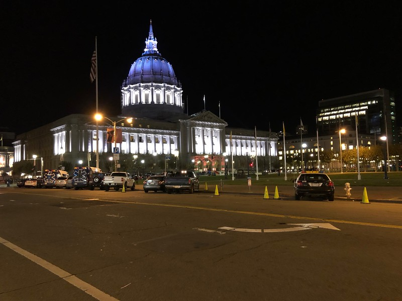 San Francisco City Hall from the Bill Graham Auditorium using the normal lens