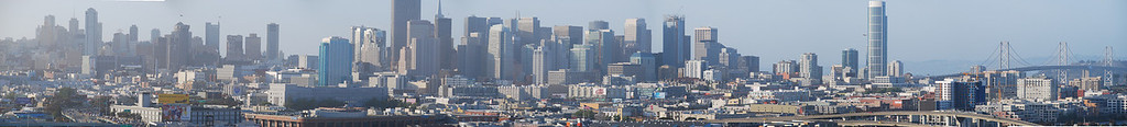 San Francisco Panoramic View From Potrero Hill  (C) 2008 Brian Neal