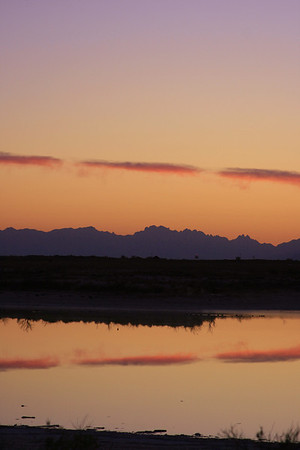 Sunset, Lucero Lake, near White Sands National Monument, NM