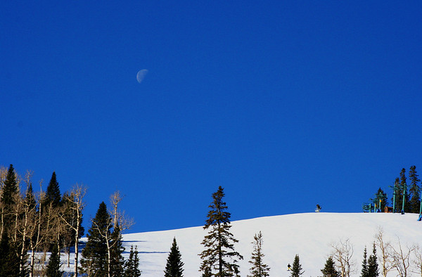 Moonset, Ski Apache Ski Area, Ruidoso, NM