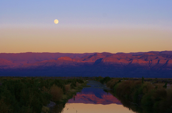 Moonrise near White Sands, NM