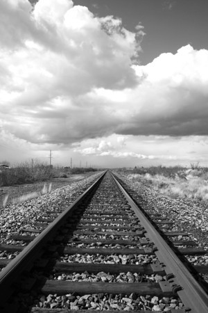 Railroad tracks near Alamogordo, NM