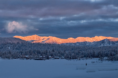 Alpine Glow over Payette Lake, McCall, Idaho