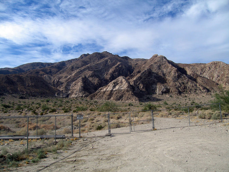 Ancient shoreline of Lake Cahuilla, Santa Rosa Mountains, just south of Travertine Rock--28 Dec 2005