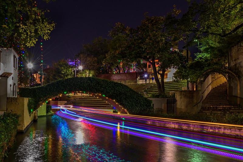 """Holiday Lights along the River Walk"" San Antonio, Texas"
