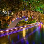 """Holiday Lights along the River Walk"" San Antonio, Texas."