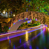 """Holiday Lights along the River Walk"" San Antonio, Texas."