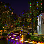 """Holiday Lights along the River Walk"" Arneson River Theater, San Antonio, Texas"