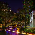 """Holiday Lights along the River Walk"" Arneson River Theater, San Antonio, Texas"