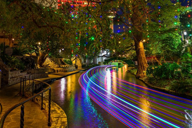 """Holiday Lights along the Riverwalk"" San Antonio, Texas"