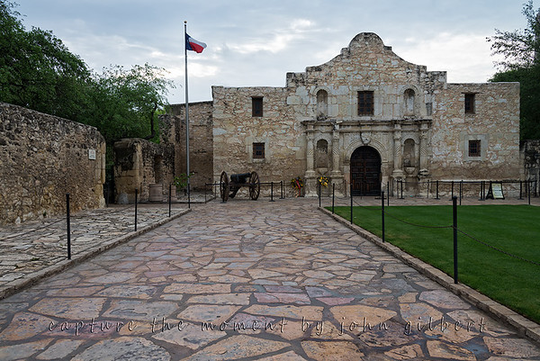 The Alamo, San Antonio, TX: Nikon D600, 28-300mm Lens @ 28mm, f/8, 1/160sec, ISO 200, and matrix metering.  Post processed using NIK Color Eflex Pro4's Dynamic Contrast Filter.