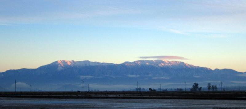 San Bernardino Mountains from Perris, early morning 7 Jan 2007