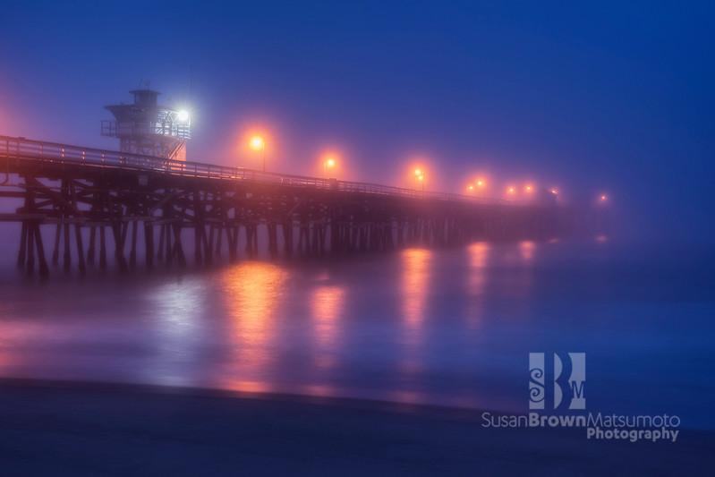 San Clemente Pier Blue Hour Final 12x8