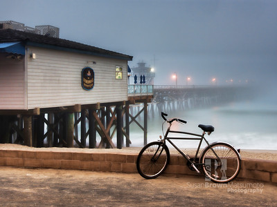 San Clemente Pier and Bike 11x14 - 16x20 format