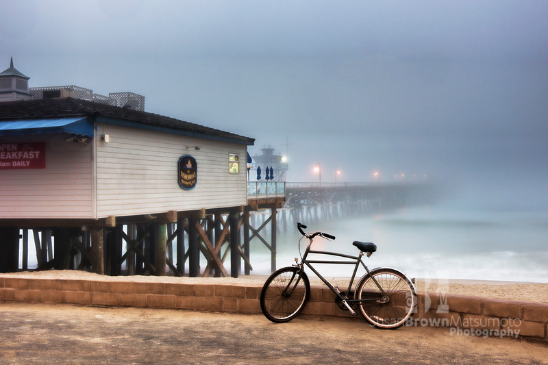 San Clemente Pier and Bike 8x12, 12x18 format