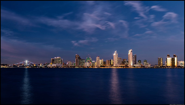 San Diego skyline in February