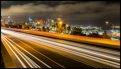 Downtown San Diego from the I-5