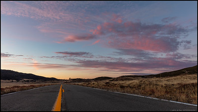 If you go the other way on Sunrise Highway, you might see a sunset, or at least some colorful clouds.