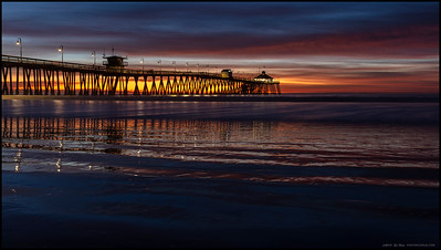 The afterglow party occurring over the Imperial Beach Pier.