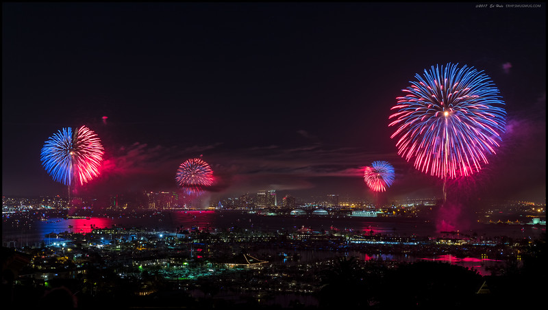 The Big Bay Boom over San Diego Harbor.