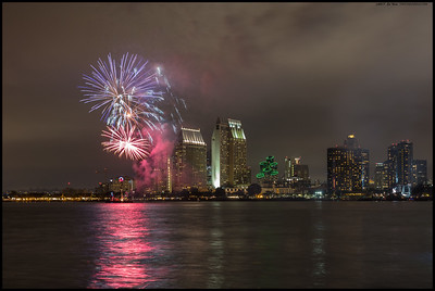 Summer Pops fireworks over San Diego, 30JUN2017.