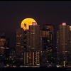 Harvest Moon rising over San Diego, October 5th 2017.