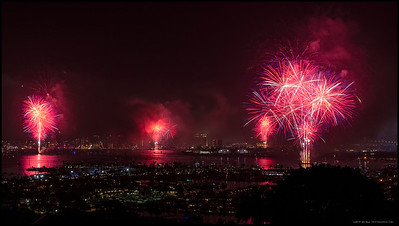 Part of the finale of the 2019 Big Bay Boom over San Diego Bay.