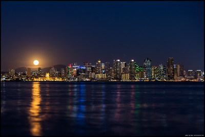 Moonrise over San Diego.