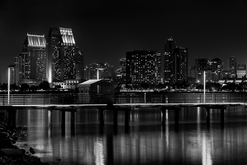 San Diego Bay B/W