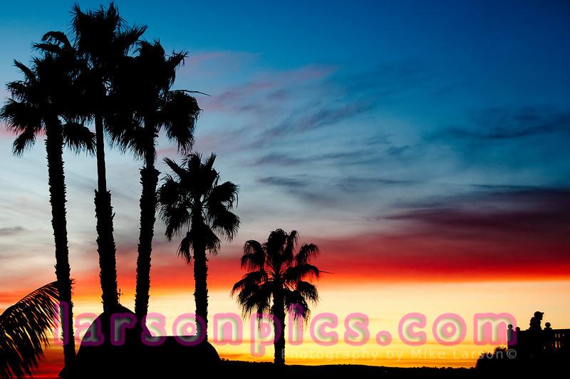 California Dreamin'.  Del view at sunset.