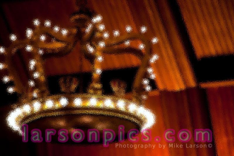 Crown Chandelier in Hotel Del Coronado's  Crown Room