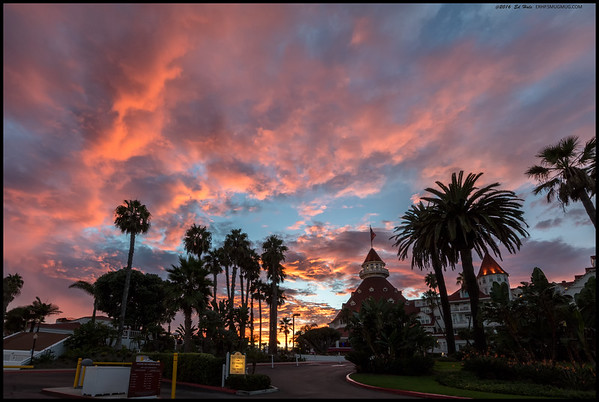 Some color over the Hotel Del Coronado.