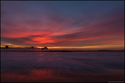 The sunsets have been questionable the last week of November but this one was definitely worth getting a little wet trying to capture it over the Imperial Beach pier.