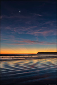 The after-sunset show at low tide.