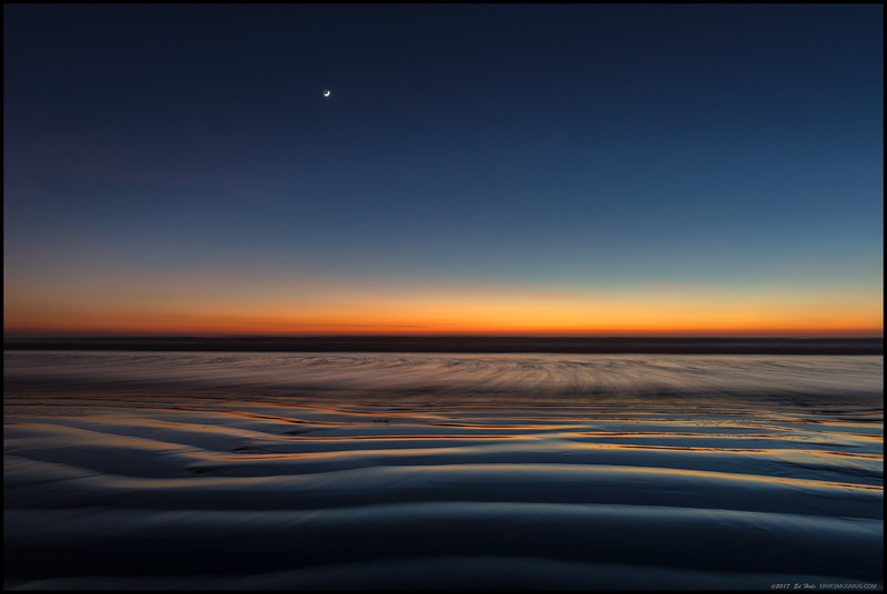 Some sand, some water and a bit of afterglow with a hint of moon.  Shake well, do not stir.