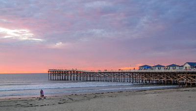 Crystal Pier at Sunset