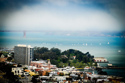 View of San Francisco Bay from Coit Tower.