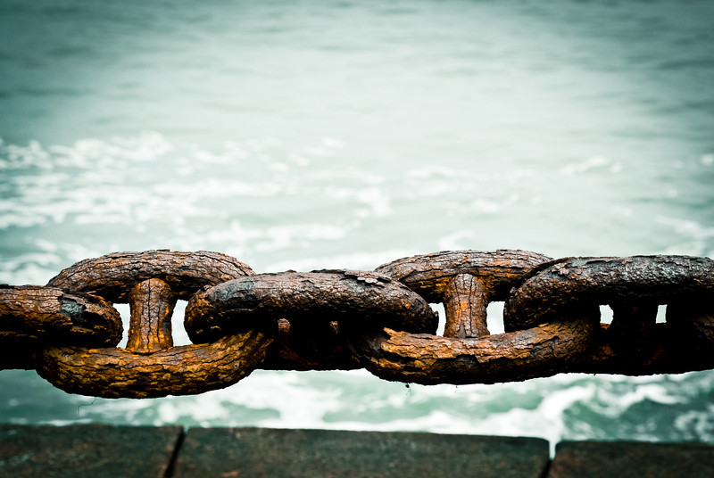 Old Rusty Chain, San Francisco Bay