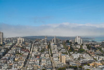 View of San Francisco from Coit Tower.