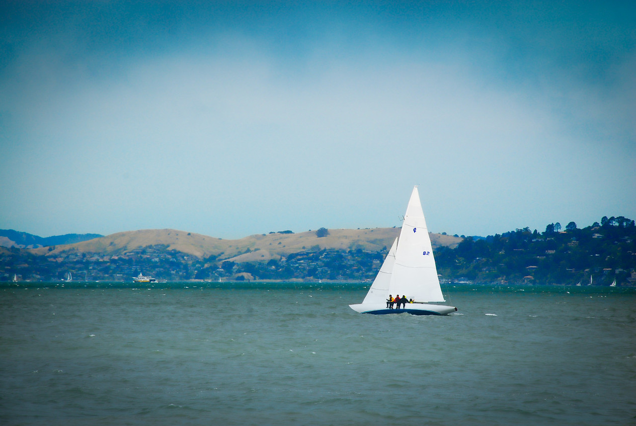 Sailing in San Francisco Bay.