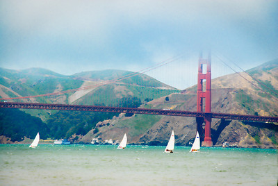 A beautiful day for sailing in San Francisco Bay.
