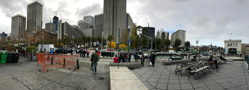 Skyline panorama from the Embarcadero