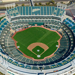 Oakland A's Baseball Stadium Aerial View.