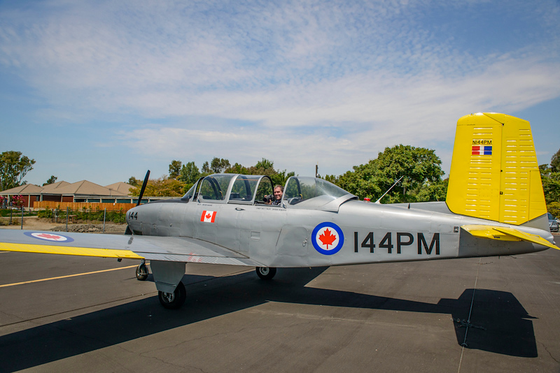 Shooting from the back of the T34 airplane!  Aerial photography at its best