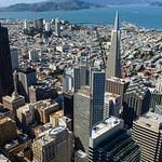 Mandarin Oriental Hotel, Transamerica Pyramid, Alcatraz and the Golden Gate Bridge